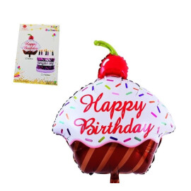 Балон - кексче Happy Birthday