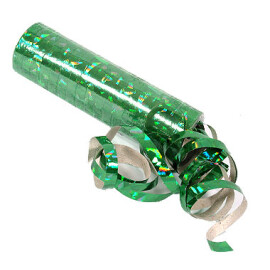 Серпентини холограма зелена