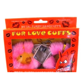 Комплект любовни белезници със зарчета - розови