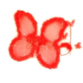Комплект пеперуда - червена