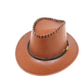 Каубийска шапка кожена