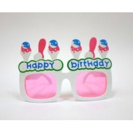 Парти очила Happy Birthday бели