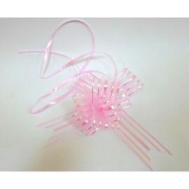 Подаръчна панделка от тюл розова