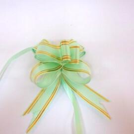 Подаръчна панделка светло зелена