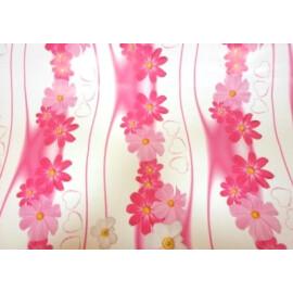 Опаковъчна хартия розови цветя и сърчица