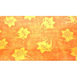 Опаковъчна хартия оранжева с цветя