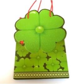 Луксозна подаръчна торбичка с детелина