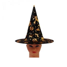 Карнавална шапка вещица с орнаменти