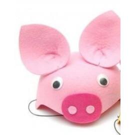 Карнавална шапка прасенце