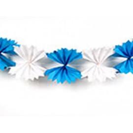 Гирлянд панделки бяло / синьо