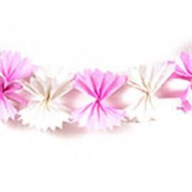 Гирлянд панделки бял / розов