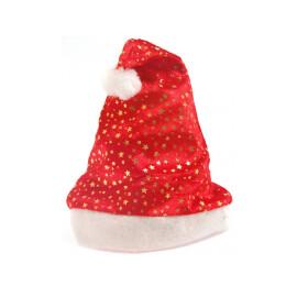 Коледна шапка със звездички