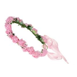 Венче с розички в розово
