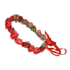 Венче с розички в червено