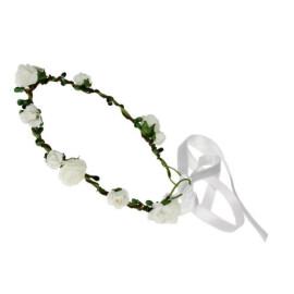 Венче с цветчета - бели