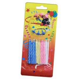 Парти свещи разноцветни малки