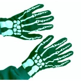 Ръкавици скелет в зелено